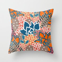Succulents crowd Throw Pillow