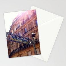 The Metro, Paris Stationery Cards