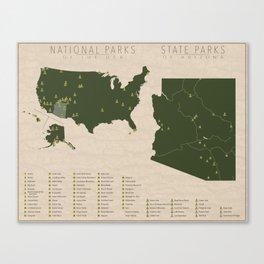 US National Parks - Arizona Canvas Print
