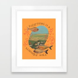 learnable skill Framed Art Print