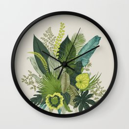 Green Leaves and Life Wall Clock