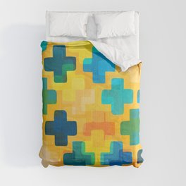 Positivity / Abstract Geometric Pattern Comforters