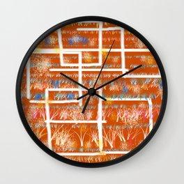 Orange Room Wall Clock