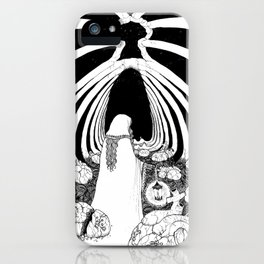 Candlelit Gravekeeper of the Deep iPhone Case