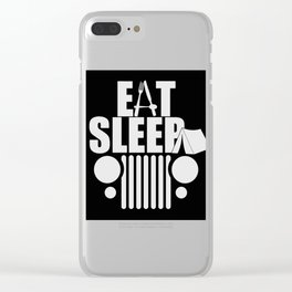 eat sleep jeep Clear iPhone Case