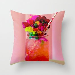 Spring in a Glass Throw Pillow