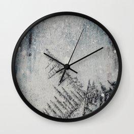 Black snow Wall Clock