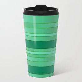 Green Ombre Stripes Travel Mug