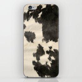Black & White Cow Hide iPhone Skin