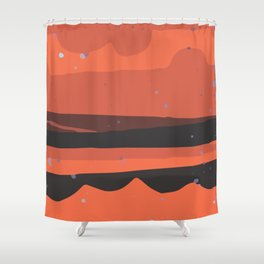 Contemporary Abstract Modern Art Minimal Texture Bold Graphic Design Background GC-117-8 Shower Curtain