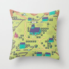 Just A Happy (Happy) Village Throw Pillow