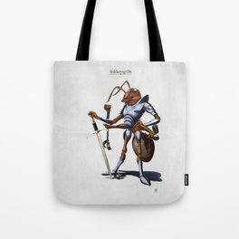 Soldiering On Tote Bag