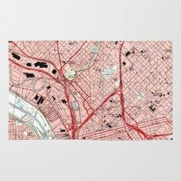 Dallas Texas Map (1995) Rug