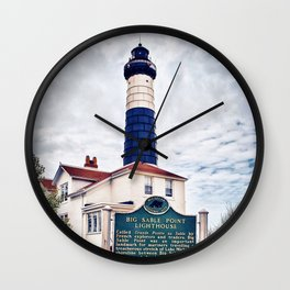 """Big Sable Point Lighthouse"" Wall Clock"