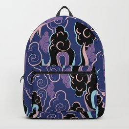 Colourful purple, pink, aqua clouds at twilight Backpack