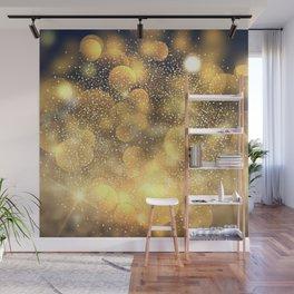 Golden glitter pattern Wall Mural