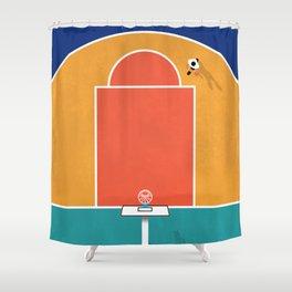 Shoot Hoops   Aerial Illustration Shower Curtain