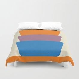 Four Plastic Bowls Duvet Cover