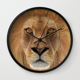 Male Lion Wall Clock