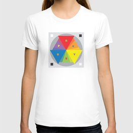 Color wheel by Dennis Weber / Shreddy Studio with special clock version T-shirt