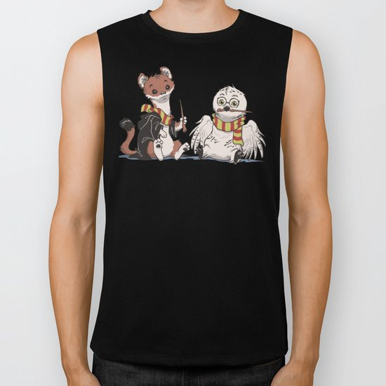 The Owl and The Weasel Biker Tank