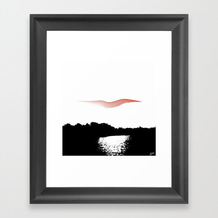 """""""Torn Lake"""" Framed Art Print"""