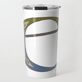 Celtic Knotwork Alphabet - Letter E Travel Mug