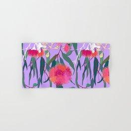 Australian Gumnut Eucalyptus Floral in Lilac Orchid Hand & Bath Towel
