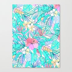 Pretty Pastel Hawaiian Hibiscus Print Canvas Print