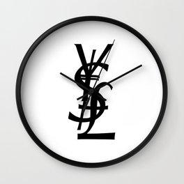 YSL Yen Dollar GBP Wall Clock