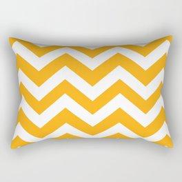 Dark tangerine - orange color - Zigzag Chevron Pattern Rectangular Pillow