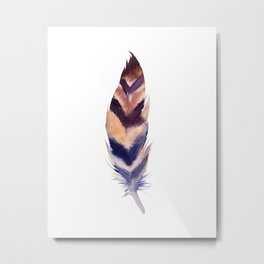 feather study 2 Metal Print
