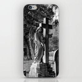 Churchyard angel iPhone Skin
