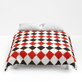 Retro checkered with golden threads Comforters