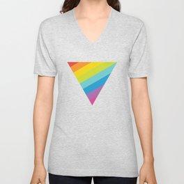Pride: Rainbow Triangle Unisex V-Neck