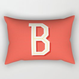 Monogram letter B Rectangular Pillow