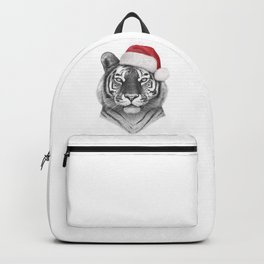 Christmas Tiger Backpack