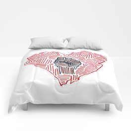 Untitled (Heart Fist) Comforters