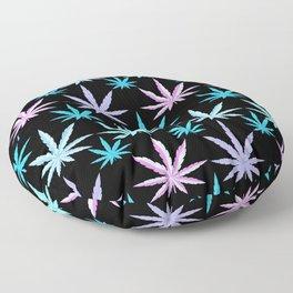 Marijuana Garden Pink Lavender Turquoise Aqua Floor Pillow