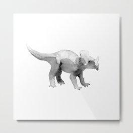 Triceratops / bw. Metal Print