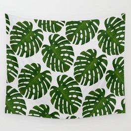 Monstera Leaf II Wall Tapestry