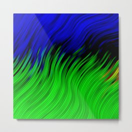 stripes wave pattern 2 with lines vtgi Metal Print