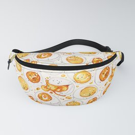Cooked Eggs Watercolor Fanny Pack