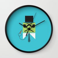 persona Wall Clocks featuring Persona Series 003 by Sobriquet Studio