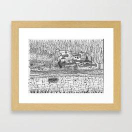 shaman house Framed Art Print