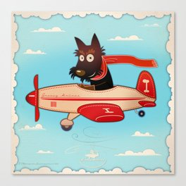 Groovy pilot Canvas Print