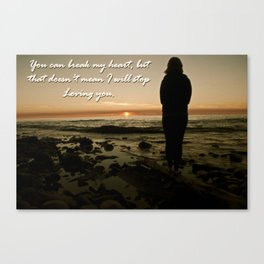 Definition of Love Canvas Print