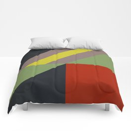 Modernist Geometric Graphic Art Comforters