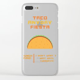 Taco Anyday Fiesta! Clear iPhone Case