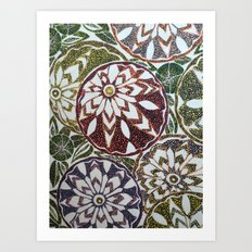 Zinnias Art Print